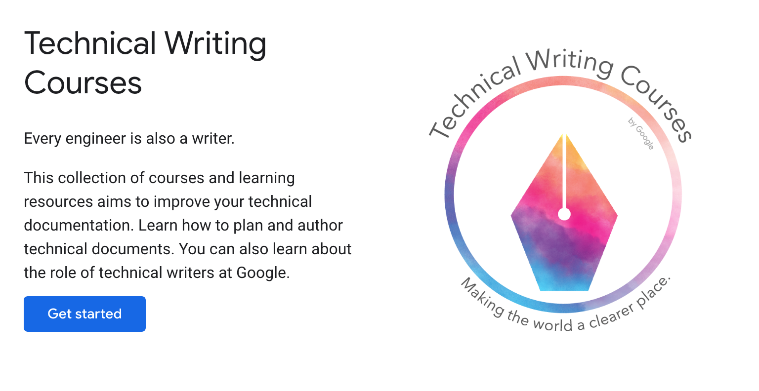 Google Technical Writing